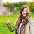 Beautiful autumn woman — Stock Photo