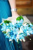 Ramo de flores de boda azul hermoso — Foto de Stock