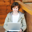 Woman with laptop — Stock Photo #7490552