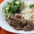 Turkey with rice and salad — Stock Photo #6887651