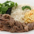 Turkey with rice and salad — Stock Photo