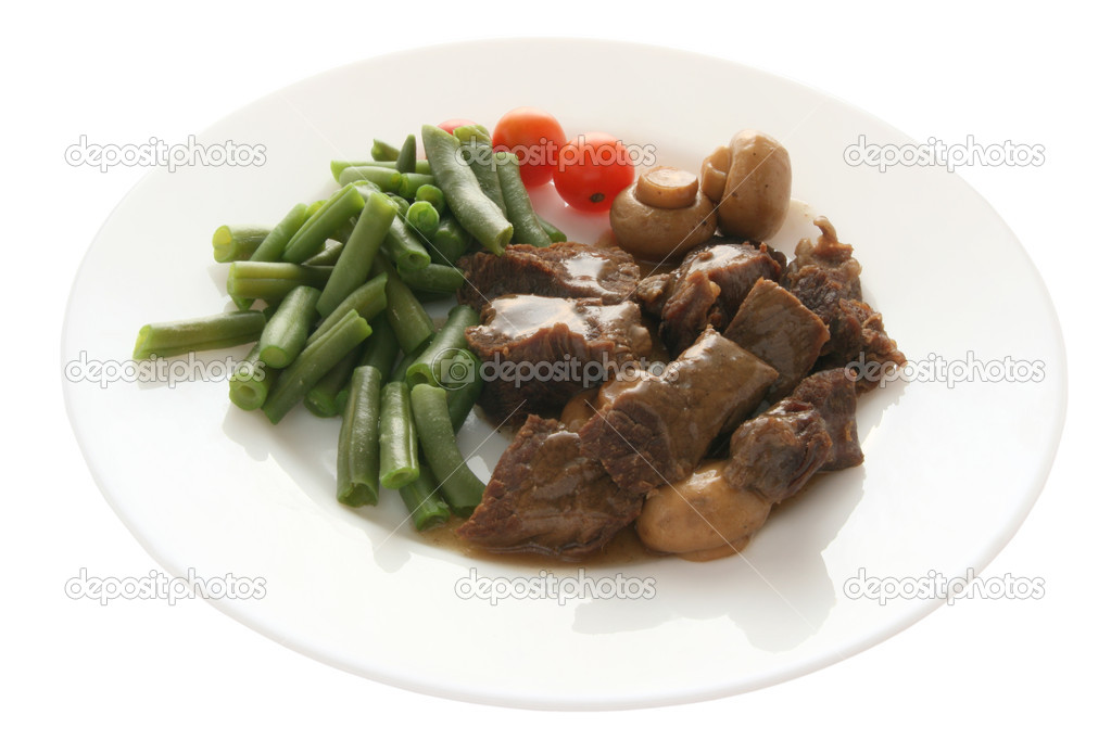 Meat with mushrooms and vegetables — Stock Photo #7200920