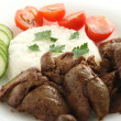 Chicken liver with rice — Stock Photo #7280014