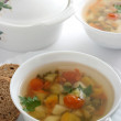 Vegetable soup in bowl - Stock Photo