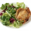 Fried chicken with salad — Stock Photo