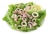 Salad with seafood — Stock Photo