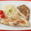 Fried fish with boiled rice — Stock Photo #7859769