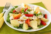 Fish salad — Stock Photo