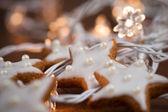 Cuisson des biscuits de noël — Photo