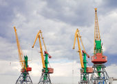 Container cranes in Feodosiya, Crimea, Ukraine — Stock Photo