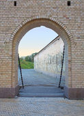 Gates to fortress in Kiev (Kyiv), Ukraine. Kievo - Pecherskaya f — Foto de Stock