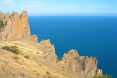 Karadag mountains and Black Sea, National park, Crimea, Ukraine — Stock Photo