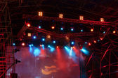 Stage lights at a concert — Stock Photo