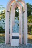 Great russian poet Alexander Pushkin, statue in Kerch, Ukraine — Stock Photo