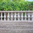 Ancient stairs and columns with ivy — Stock Photo