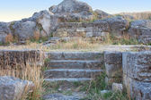 Ruins of ancient Pantikapey in Kerch; Crimea; Ukraine — Stockfoto