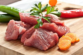 Chopped meat — Stock Photo