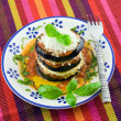 Eggplants parmigiana — Stock Photo #7182885