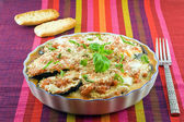 Eggplants parmigiana — Stock Photo