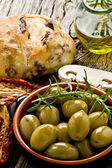 Giants Spanish olives — Stock Photo