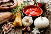 Amatriciana ingredients — Stock Photo