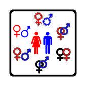 男性和女性符号矢量 — 图库照片