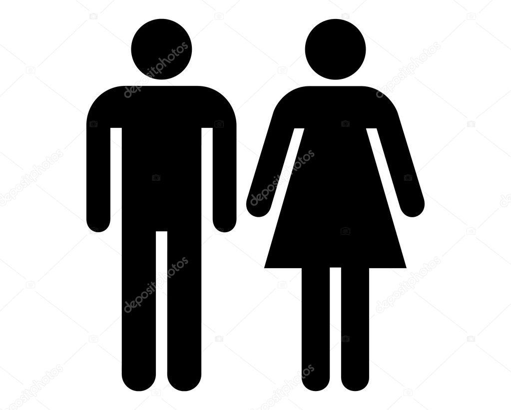Sinal masculino e feminino — Fotografias de Stock © JoeArt #7222978 -> Sinal Banheiro Feminino