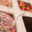 Foto de Stock  : Frozen yogurt topping