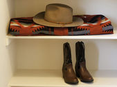Boy's closet — Stock Photo