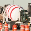 Cement mixer truck — Stock Photo #6790953