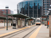 Lightrail station — Stock Photo