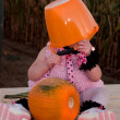 Toddler in Halloween Costume — Stock fotografie