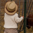 Toddler on the Farm — Stock Photo