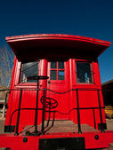 Red Caboose — Stock Photo