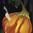 Halloween pumpking birth — Stockvektor