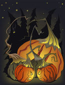 Halloween mad pumpkins — Stock Vector