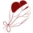 Heart present in a hand — Stock Vector