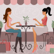 Coffee After Shopping — Vector de stock #7229036