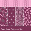 Stock Vector: Seamless Patterns Set