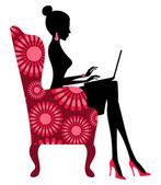 мода блоггер — Cтоковый вектор