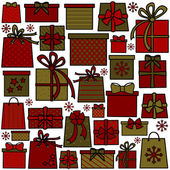 Christmas Presents Collection — Stock Vector