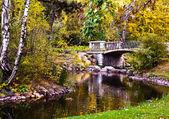 Park ujazdowski w warszawie. hösten. Warszawa. Polen — Stockfoto