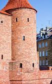 Barbican in Warsaw . Poland — Stock Photo
