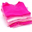 Stack of pink clothes — Stock Photo