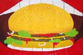 Hamburger illustration — Stock Photo
