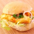 Calamari Burger — Stock Photo