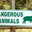 Dangerous animals sign — Stock Photo