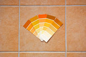 Color charts on tiles — Stock Photo