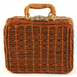 Bamboo suitcase — Stock Photo
