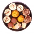 Assorted cup cakes — Stock Photo